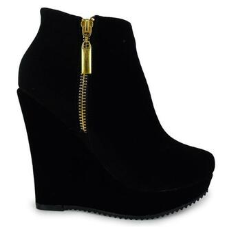 shoes black black shoes heels high heels ankle boots wedge boots black ankle boots wedges