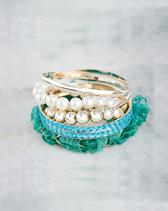 jewels aquamarine jewelry bracelets pearl bangle jewelry youngandforever crazeemania