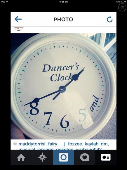 clock bag dancer