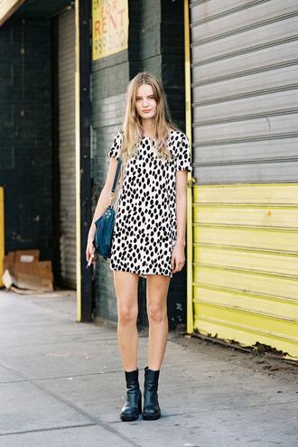 dress printed dress black and white black and white dress spots print shift dress monochrome