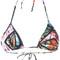 Lygia & nanny - printed bikini top - women - polyamide - m, polyamide
