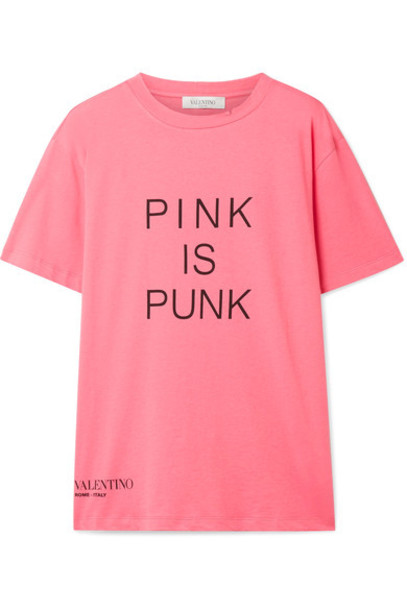 Valentino t-shirt shirt t-shirt punk cotton pink top