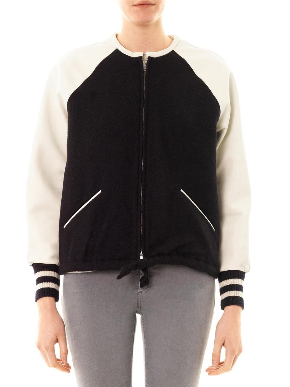 Cypress leather sleeve bomber jacket | Isabel Marant Étoile | ...