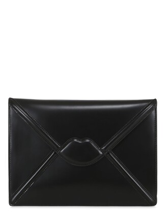 envelope clutch lips clutch black bag