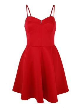 Buy red bustier skater dress by high street jacker for £19.99 from high street jacker