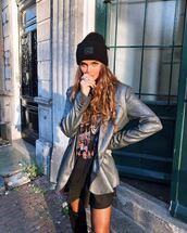 jacket,metallic jacket
