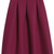 ROMWE | ROMWE Retro Zippered Pleated Red Skirt, The Latest Street Fashion