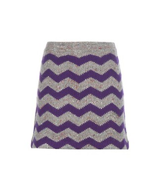 skirt wool chevron