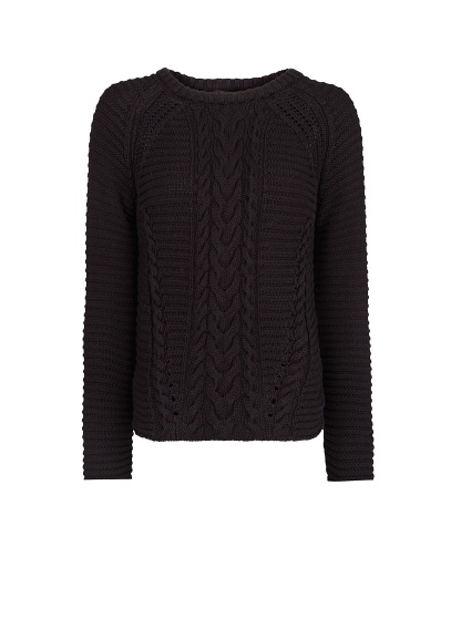 MANGO - NEW - Cable-knit cotton sweater