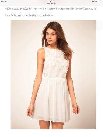 dress white dress backless dress white asos