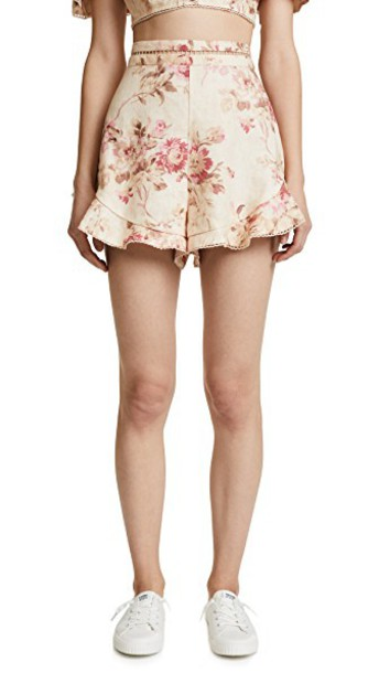 Zimmermann shorts floral cream