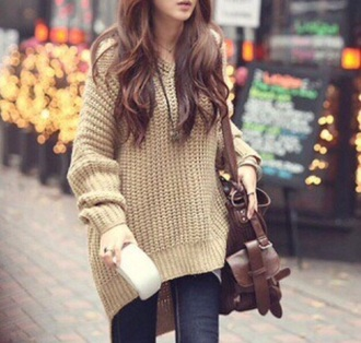 sweater doublelw oversized sweater hoodie knitted sweater fashion style streetwear outfit