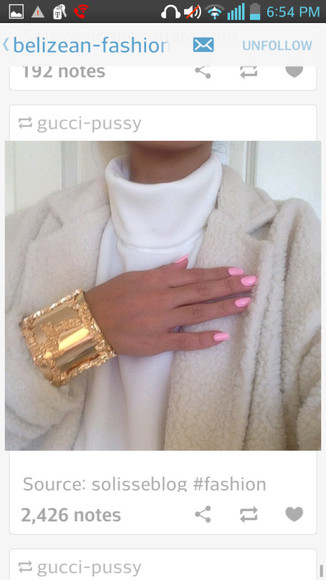 jewels cuff gold cuff bracelet nail polish