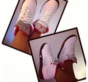 shoes,jordans,cute,white,black,nike,red,nike sneakers,sneakers