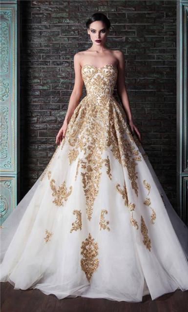2014 rami kadi oro ricamo abito da sposa xt 1085 bianco e abiti da sposa in oro in da su aliexpress.com