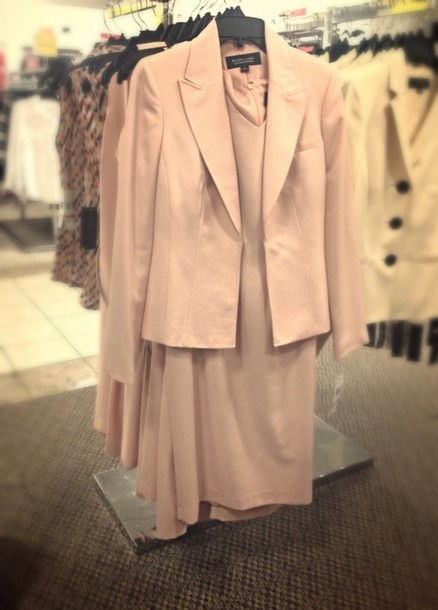 coat pink suit cute jackie kennedy inspired