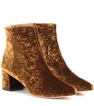 boots ankle boots velvet ankle boots velvet brown shoes