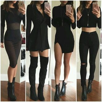 jumpsuit all black everything dress black dress black jeans