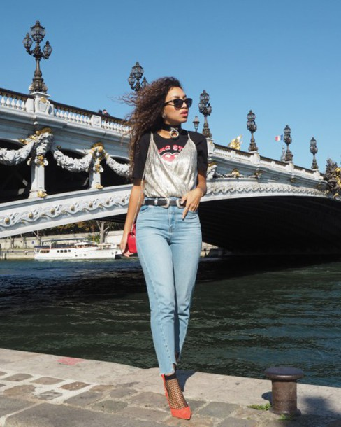 T-shirt: from hats to heels, blogger, top, jeans, shoes, socks ...