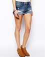 ASOS | ASOS Low Rise Denim Shorts in Vintage Wash at ASOS