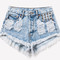 450 acid frayed studded shorts | runwaydreamz
