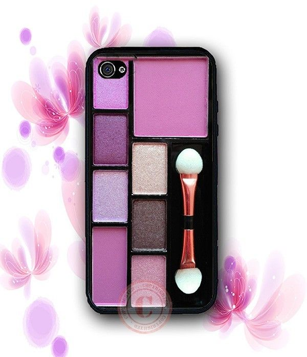Makeup Pallettes Eye Shadow Case - Rubber Silicone Case For iPhone 6 4S 5 5S 5C