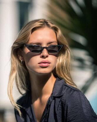 sunglasses small sunglasses model black sunglasses summer essential