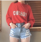 sweater,sweatshirt,orange,neon,chicago,sportswear,chicagobears,winter outfits,beats,bear,fall outfits,shirt,baggy,oversized,vintage,long sleeves