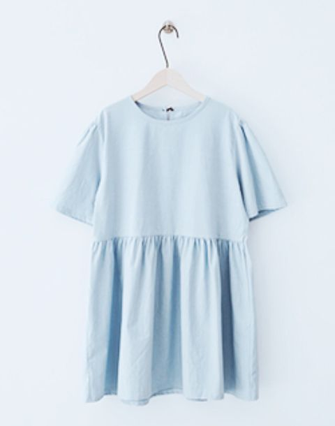 dress babydoll dress baby blue pastel blue dress cute dress