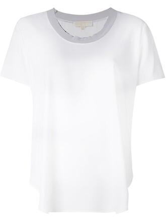 t-shirt shirt women spandex white top