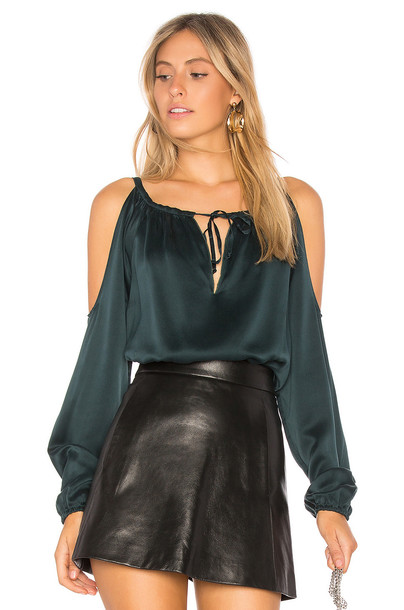 Chaser top cold silk green