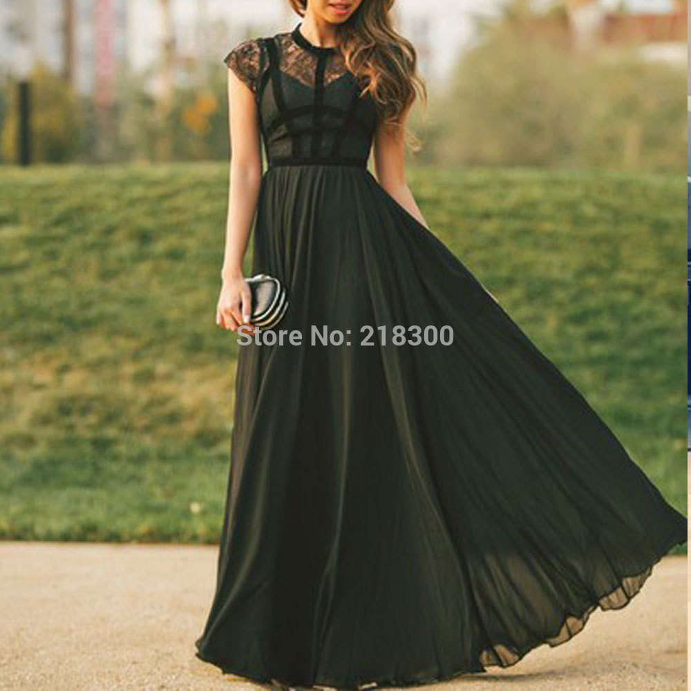 Formal Prom Dresses with Cap Sleeves
