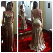 gold evening dresses\,sequin prom dress,mermaid prom dress,backless prom dress,long prom dress,prom dress