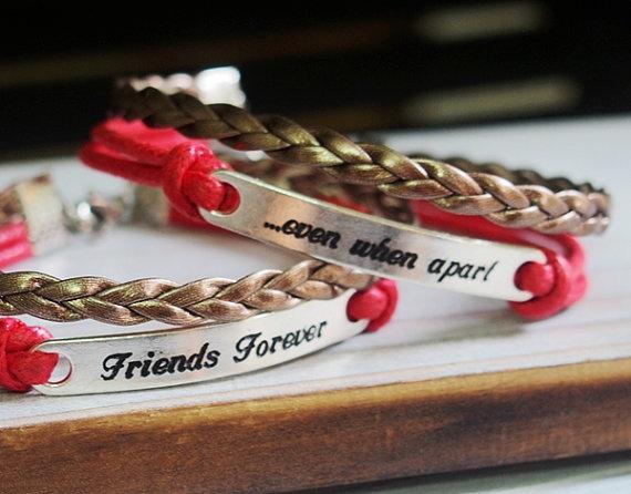 Friends forever bracelet 2 best friends by infinitybraceletlove