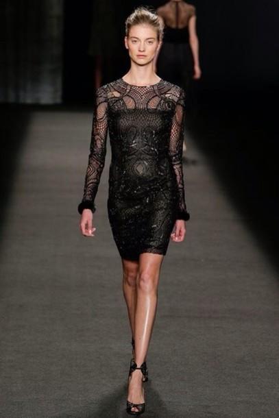 dress little black dress lace dress black lace dress evening dress short dress sequins black lace