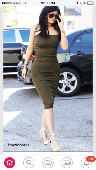 dress keeping up with the kardashians kylie jenner tube dress shoes