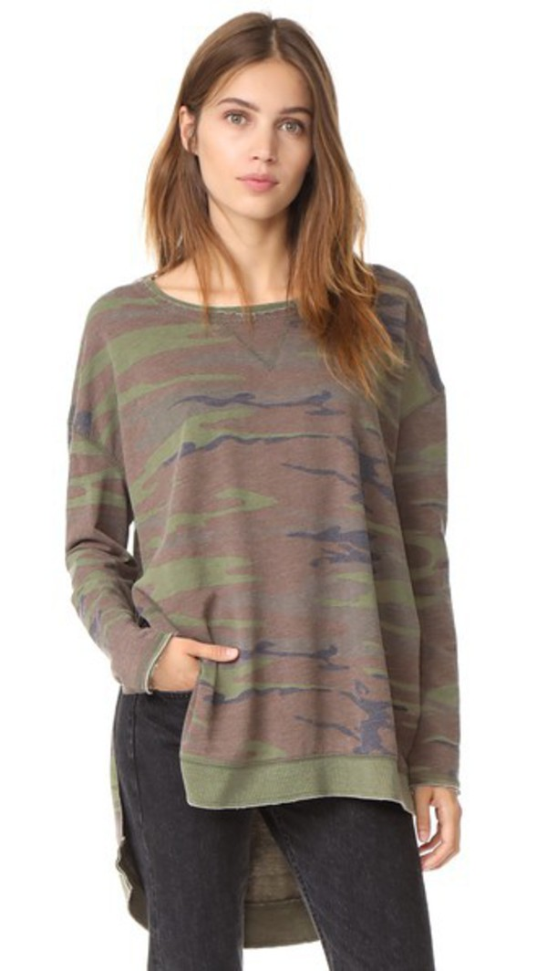 Z Supply The Weekender Pullover in green
