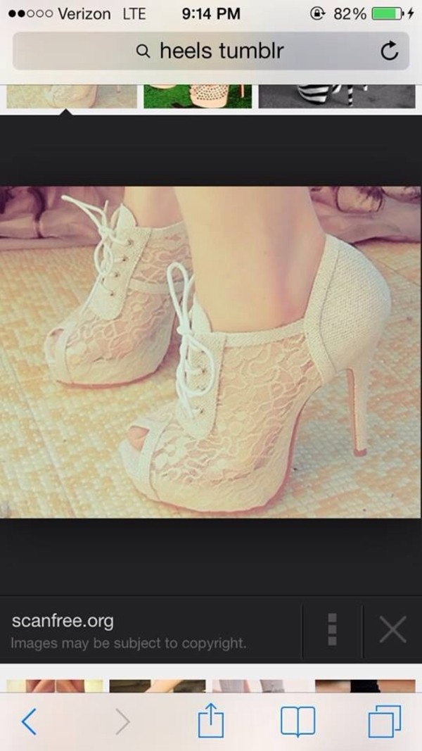 shoes white lace pep toe heels