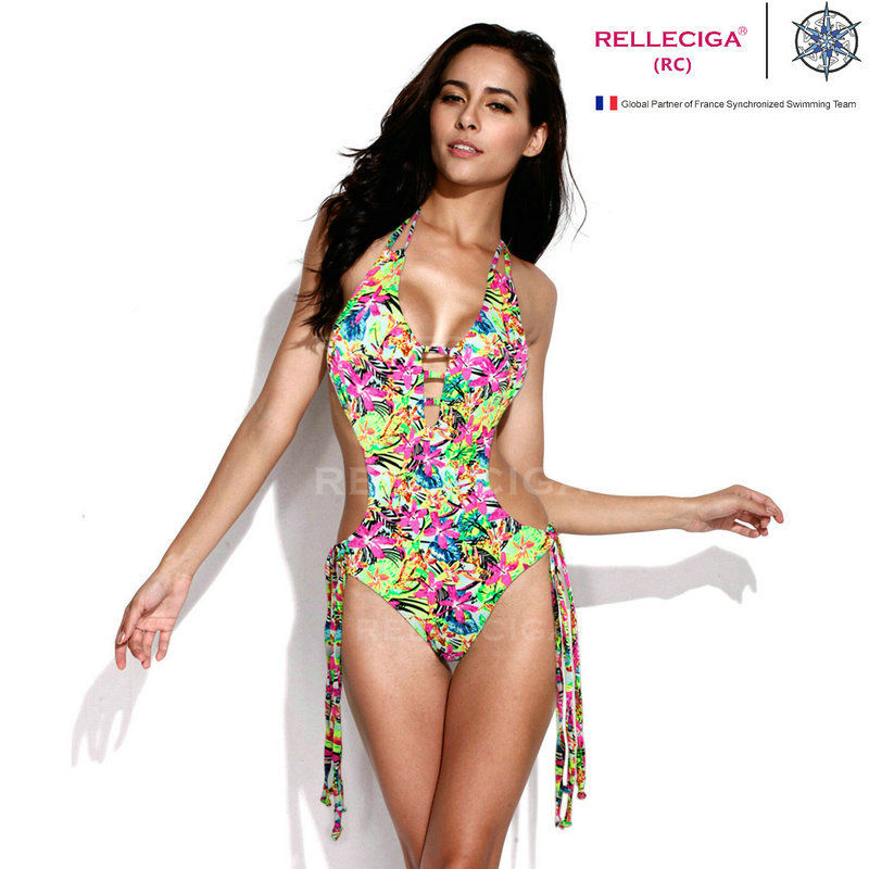 RELLECIGA Sexy Jungle Pattern One Piece Swimsuit with Straps Bikini Swimwear Set | eBay