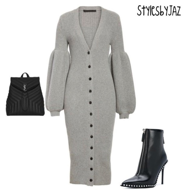 dress grey knitted dress