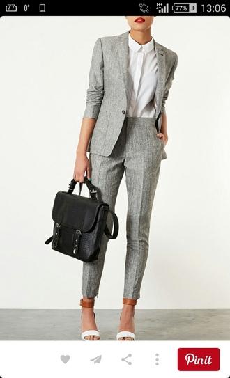 pants cigarette pants gray pants grey pants grey
