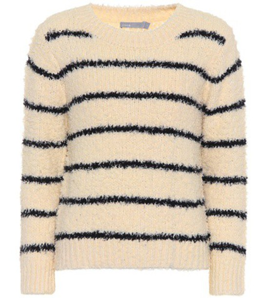 Vince Cotton and linen-blend sweater in beige / beige
