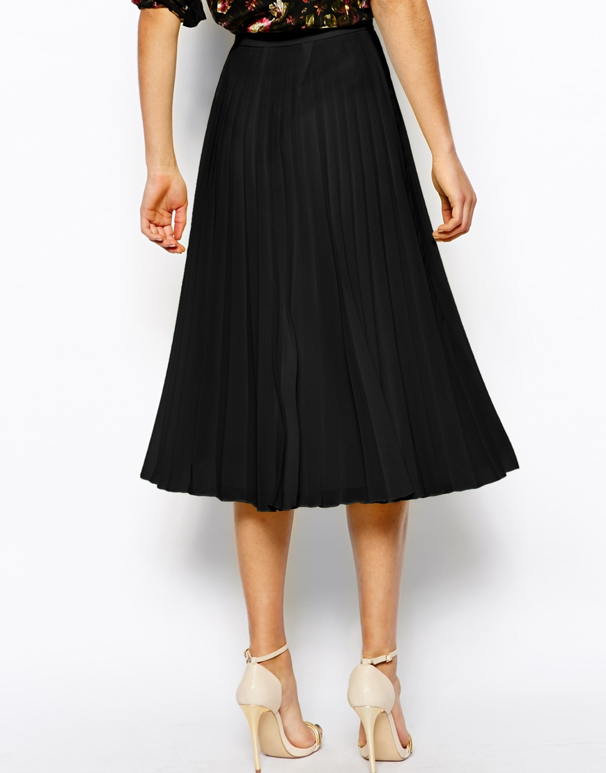 ASOS Pleated Midi Skirt at asos.com