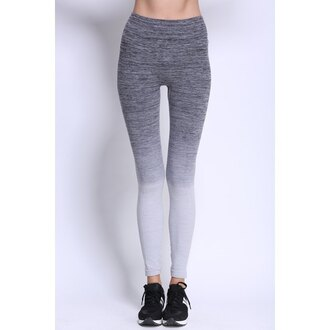 pants grey yoga pants ombre fashion fitness sportswear sporty trendsgal.com