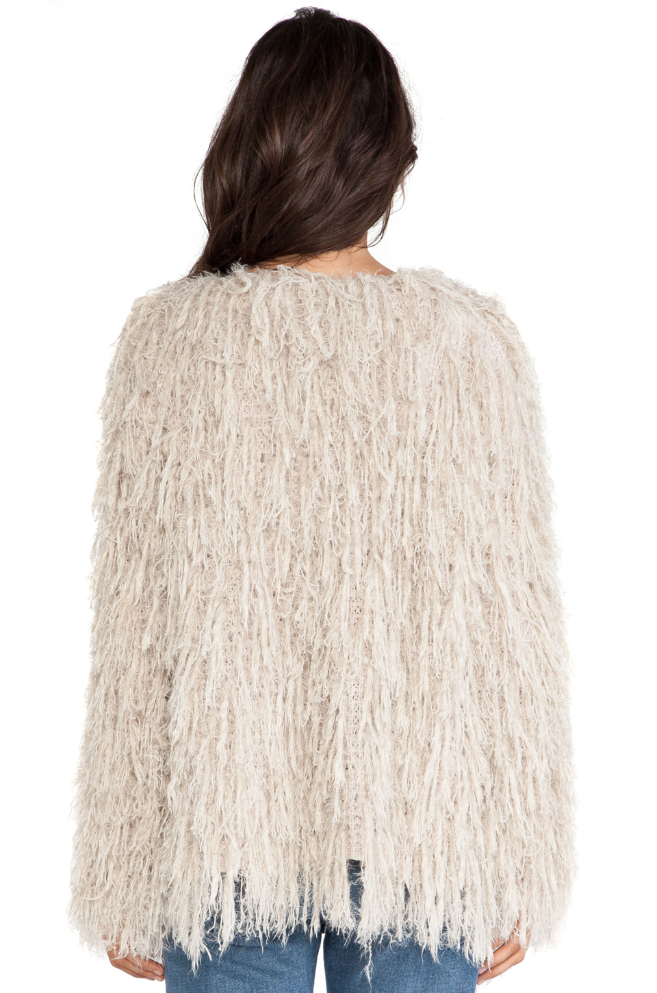 827300c2b65919 Free People Faithful Shaggy Cardigan in Sand from ...