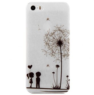 phone cover love cute girly fashion flowers dandelions iphone cover black and white