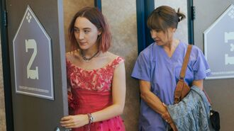 dress lady bird saoirse ronan celebrity movie pink dress necklace