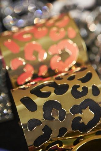 jewels gold jewelry gold leopard print lepoard print black coral