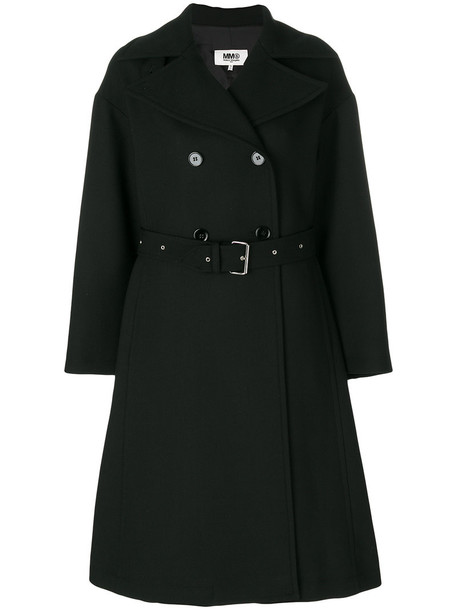 coat oversized double breasted women spandex black wool