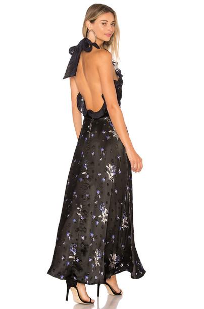 Rebecca Taylor dress violet black